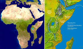 Great Somalia are splitting from Africa by the Power of Nature